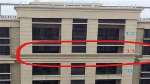 在高层建筑中一般会设计有楼房腰线层