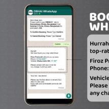 在WhatsApp上的Ridesharing App OBHAI孟加拉国首创