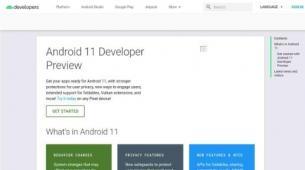 前沿科技资讯:短暂出现Android 11开发人员预览页面