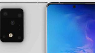 前沿科技资讯:三星Galaxy S11 +渲染图显示了一个大型机壳中的五个后置摄像头