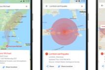 谷歌地图显示飓风预报地震袭击地图